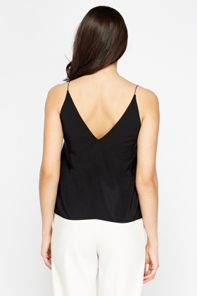 Black V-Neck Cami Top