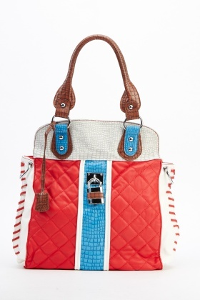 Colour Block Contrast Handbag