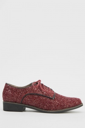 Glitter Lace Up Brogues