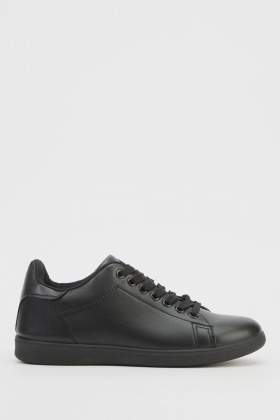 Lace Up Low Top Basic Trainers