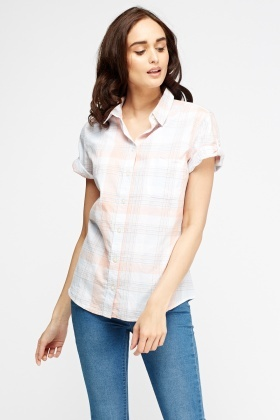 Check Grid Short Sleeve Shirt