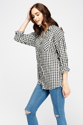 Checked Mono Shirt