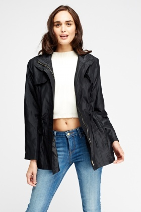 Classic Hooded Black Jacket