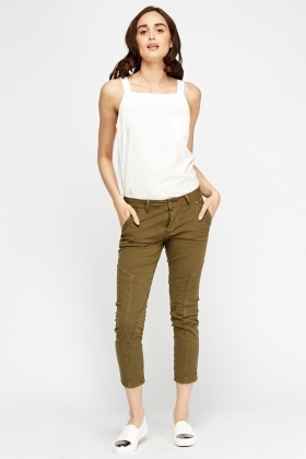 Crinkled Low Waist Trousers