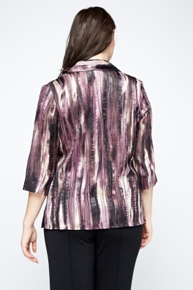 Metallic Insert Printed Shirt