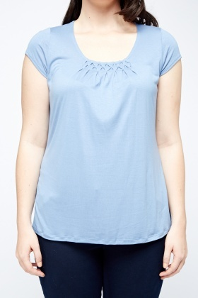 Ruffled Panel Basic Top