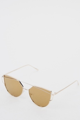 Half Moon Metal Frame Sunglasses