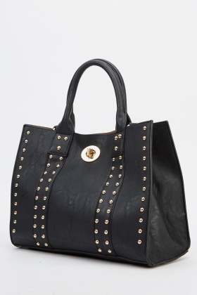 2 In 1 Studded Faux Leather Bag