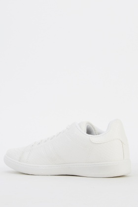Mock Croc White Trainers