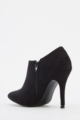 Suedette Court Ankle Heels