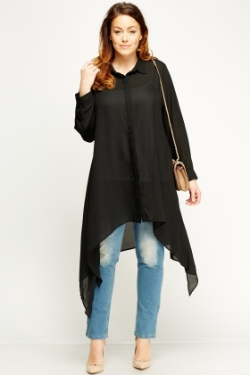 Asymmetric Sheer Top