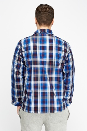 Blue Multi Checked Pyjama Top