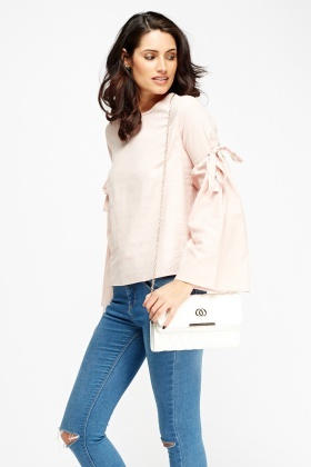 Pink Flare Sleeve Top