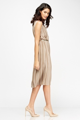Stripe Casual Shift Dress