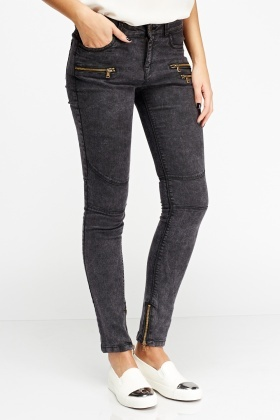 Zip Detailed Denim Jeans
