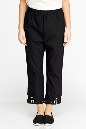 Elasticated Buckle Biker Trousers