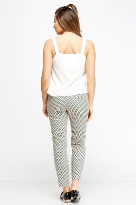 Printed Cigarette Trousers