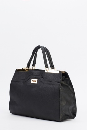 Detailed Faux Leather Bag