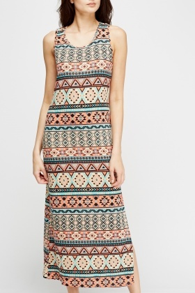 Aztec Print Summer Dress