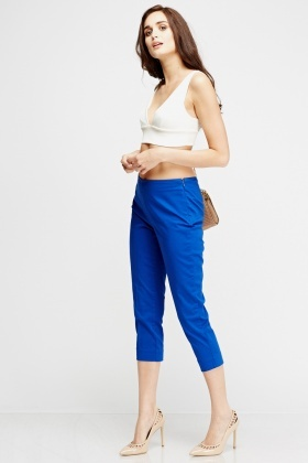 Cropped Smart Trousers