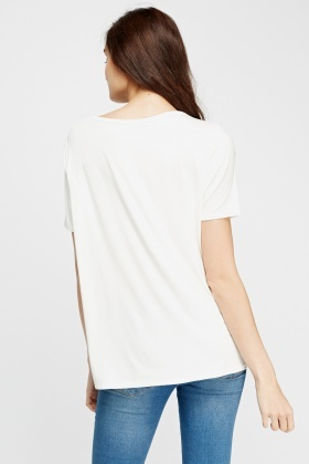 Printed Cream T-Shirt