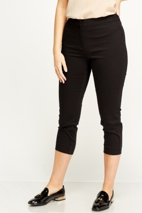 Cropped Formal Trousers