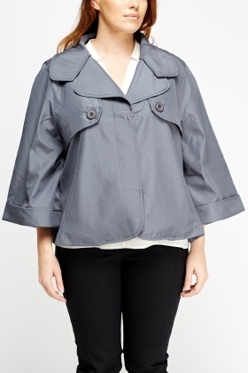Grey Boxed Jacket