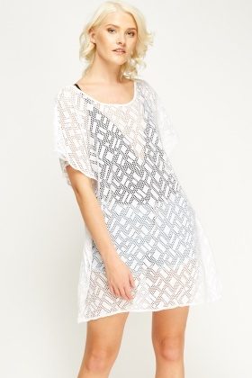 Mesh Beach Cover Up