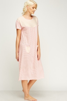 Pocket Front Night Dress