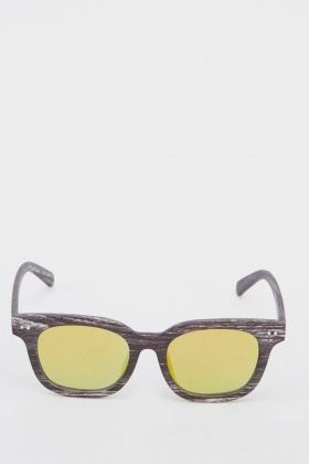 Wayfarer Wood Effect Sunglasses