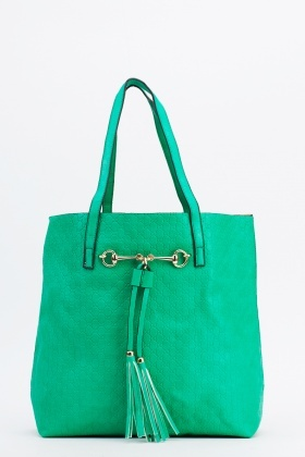 2 In 1 Textured Tote Bag