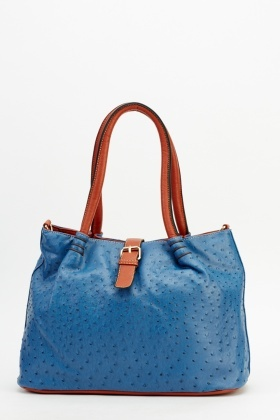 Colour Contrast Textured 2 In 1 Bag