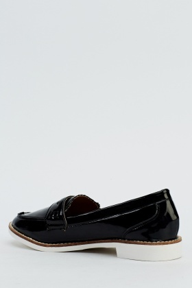 PVC Contrast Loafers