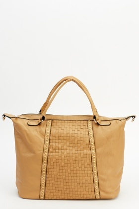 Stitched Trim Handbag