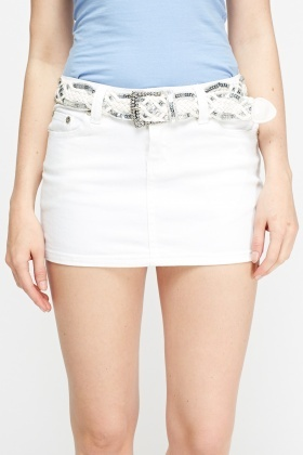 bc73e0d1c White Denim Mini Skirt - Just £5