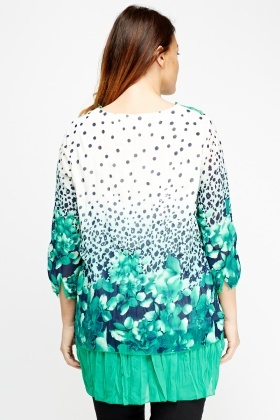 Crochet Printed Insert Hem Top