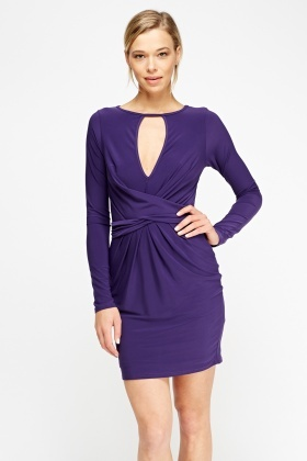 Tie Up Cut Out Front Dress