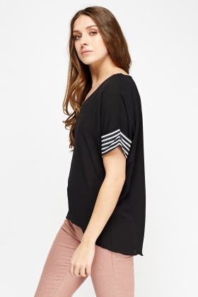 Dip Hem Sheer Top