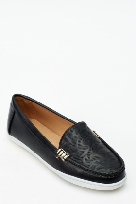 Embossed Slip On Shoes
