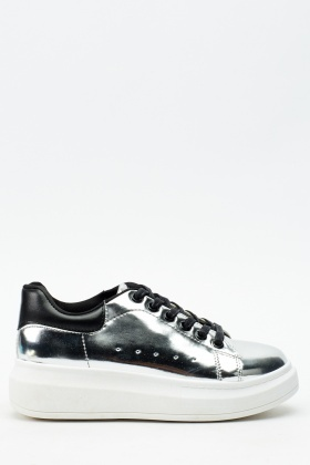 Metallic Platform Trainers