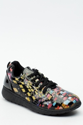 Mix Print Contrast Trainers