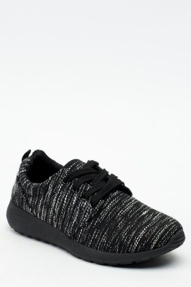 Speckled Metallic Insert Trainers