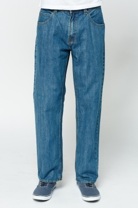 Regular Fit Blue Jeans