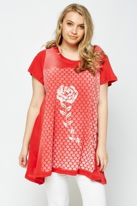 Rose Printed T-Shirt Top