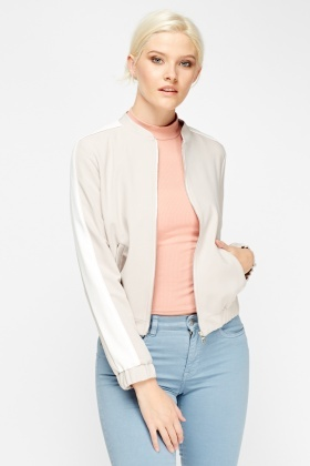 Stone Light Weight Bomber Jacket