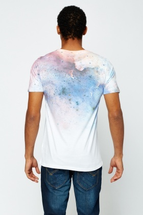 Mix Printed Blue T-shirt