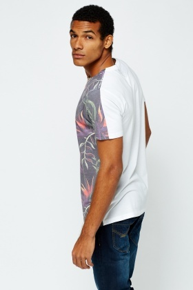 Tropical Printed Front T-Shirt