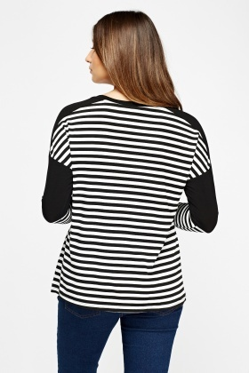 Long Sleeves Stripe Top