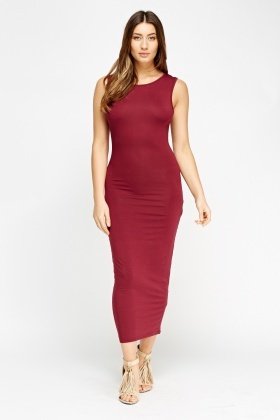 f7d364f33d2b Maroon Maxi Bodycon Dress - Just £5