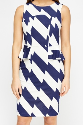 Peplum Geo Dress